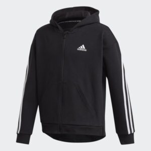 3_Stripes_Full_Zip_Hoodie_Black_GE0950_GE0950_01_laydown